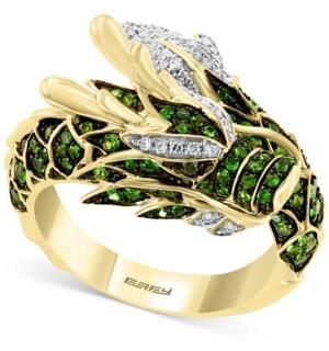 Effy Tsavorite (3/4 ct. t.w.) & Diamond (1/5 ct. t.w.) Dragon Statement Ring in 14k Gold