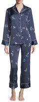 Natori Papillon-Print Long Pajama Set