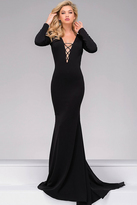 Jovani Jersey Long Sleeve Prom Dress 45062