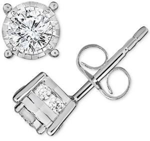 TruMiracle Diamond Stud Earrings (1/3 ct. t.w.) in 14k White Gold