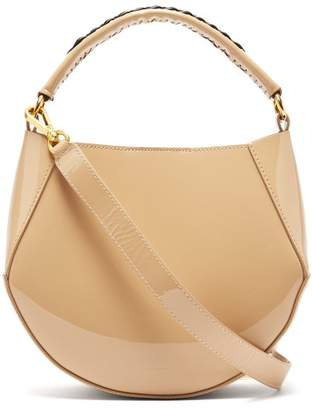 Wandler Corsa Mini Patent-leather Tote - Womens - Nude Multi