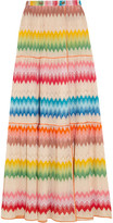 Missoni Mare Crochet-knit Wrap Maxi Skirt - Pink