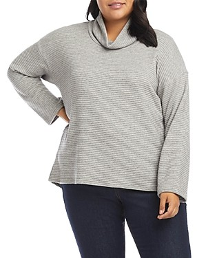 Karen Kane Ribbed Turtleneck Sweater