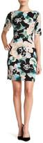 London Times Short Sleeve Print Dress (Petite)
