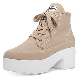 Miu Miu Women's Canvas Platform Sneakers