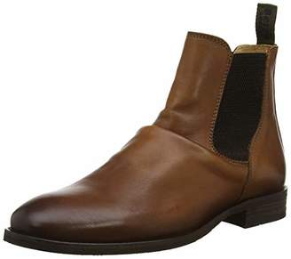 Bertie Men's Cannibal Chelsea Boots, Brown Tan Leather, 10 (44 EU)