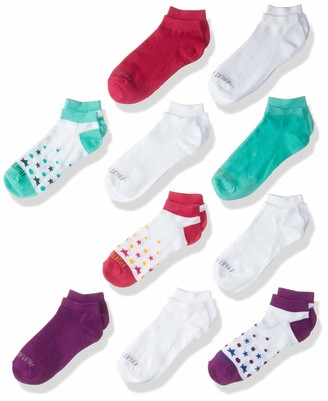 Fruit of the Loom Big Girl's Athletic Low Cut Socks 10 Pair - Great for School and Sports