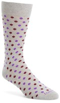 Lorenzo Uomo Men's Polka Dot Socks