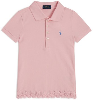 Ralph Lauren Kids Lace Trim Polo Shirt (2-4 Years)
