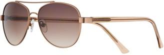 Dana Buchman Women's 57mm Metal Aviator Sunglasses