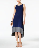 Style&Co. Style & Co. Colorblocked High-Low Dress, Only at Macy's