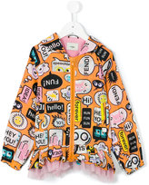 Fendi graphic faces print jacket - kids - Cotton/Polyamide/Spandex/Elastane - 2 yrs