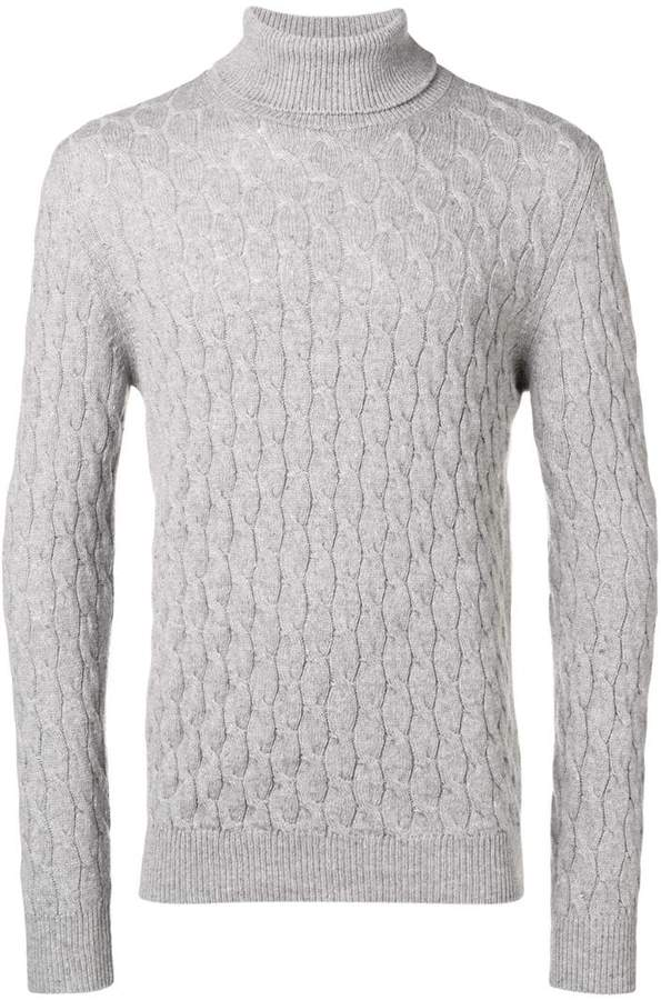 Eleventy cable knit turtleneck sweater