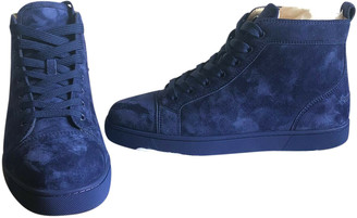 Christian Louboutin Louis Blue Suede Trainers