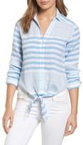 Vineyard Vines Women's Tie Front Linen & Cotton Shirt