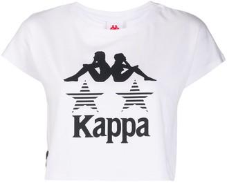 Kappa Logo Print Crop Top
