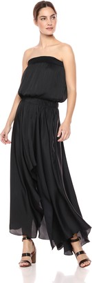 Halston Women's Strapless Ruched Waist Handkerchief Gown