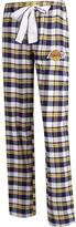 Unbranded Women's Concepts Sport Purple/Gold Los Angeles Lakers Plus Size Piedmont Flannel Sleep Pants