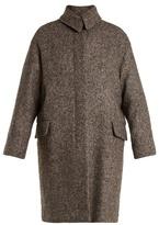 Vanessa Bruno Point-collar herringbone-tweed wool-blend coat