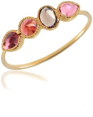 Perle de Lune Mosaik Ring Pink Tourmaline Red Garnet