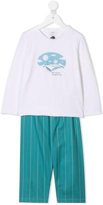 Knot Long-Sleeve Pyjama Set