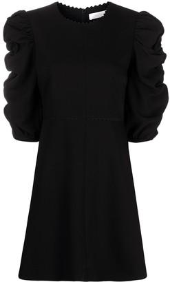 See by Chloe Ruffled-Sleeve Mini Dress