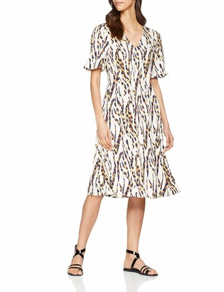 Lost Ink Women's MIDI Dress in Leopard Squiggle Party
