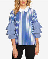 CeCe Tiered-Sleeve Stripe Blouse