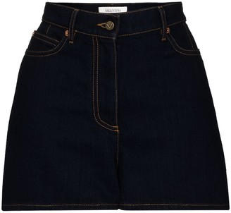 Valentino VLOGO detail denim shorts