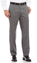 Hart Schaffner Marx Tailored Flat-Front Washable Wool Chicago Dress Pants