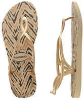Havaianas Luna Animals Sand Grey/New Gold