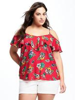 Old Navy Relaxed Plus-Size Floral Off-the-Shoulder Top