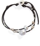 Chan Luu Women's Pearl & Leather Bracelet