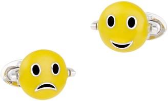 Jan Leslie Happy & Sad Sterling Silver Handmade Emoji Cufflinks