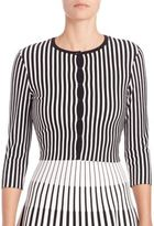 Tomas Maier Striped Cropped Cardigan