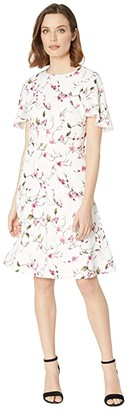 Lauren Ralph Lauren Chadela Minerva Floral (Colonial Cream/Pink/Multi) Women's Dress