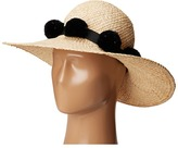 Kate Spade Sun Hat w/ Poms Traditional Hats