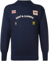 Kent & Curwen logoed jumper with patches