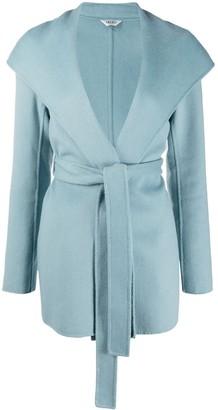 Liu Jo Tie-Waist Long-Sleeve Coat