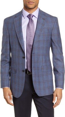 Ted Baker Jay Blue & Berry Plaid Sportco Trim