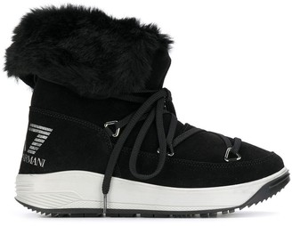 Emporio Armani Ea7 lace-up boots