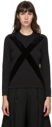 Comme des Garçons Comme des Garçons Black Velvet Cross Long Sleeve T-Shirt