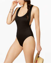 Bar III Textured High-Cut Cheeky One-Piece Swimsuit, Created for Macy's Women's Swimsuit