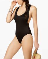 Bar III Textured High-Cut Cheeky One-Piece Swimsuit, Created for Macy's