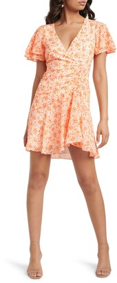 Ever New Joanna Ruched Floral Minidress