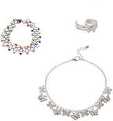 Carole Silvertone Butterfly Anklet & Toe Ring Set