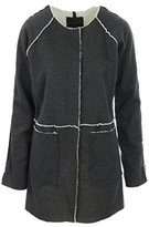 Sanctuary Women's Snug Blanket Sherpa Bonded Jersey Jacket