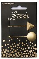 La-ta-da Brushed Gold Geometric Bobby Pins 2 Count