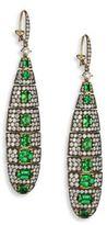 Ivy Diamond & Green Tsavorite Drop Earrings