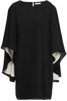 Halston Cape-effect Cady Mini Dress